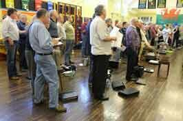 Treorchy Male Choir rehearsing